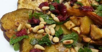 Receta berenjenas asadas con frutos secos